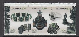 2014 Guatemala Items Made From Jade Jewellery Complete Set Of 3  MNH - Guatemala