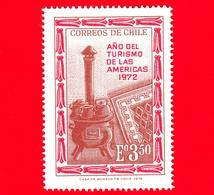 Nuovo - CILE - 1972 - Anno Del Turismo Americano - Artigianato - Stufa, Pentole E Tappeto - 3.50 - Cile