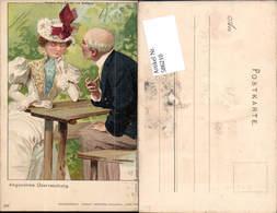 586210,Halt Gegen Licht Lithographie Liebe Frau Überraschung Pub Kosmos - Ansichtskarten