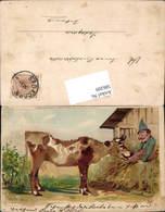 586209,Halt Gegen Licht Lithographie Landwirtschaft Kuh Bauer Pub Kosmos - Ansichtskarten