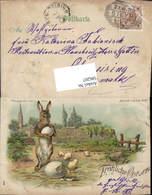 586207,Halt Gegen Licht Lithographie Ostern Osterhase Pub Meteor - Ansichtskarten