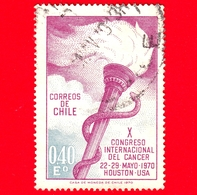 CILE - Usato - 1970 - X Congresso Internazionale Contro Il Cancro - 0.40 - Cile