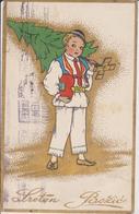 BO262   --  SRETAN BOZIC  ~  WEIHNACHTEN, PERE NOEL, CHRISTMAS  ~   CROATIA, COSTUME NATIONAL ~  1933 - Santa Claus
