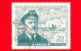 CILE - Usato - 1967 - Salvataggio Della Spedizione Di Shackleton Di Capitan Pardo - Navi - 20 - Cile