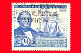 CILE - Usato - 1966 - 125 Anni Del PSNC - Navi -  William Wheelwright E Piroscafo 'Cile' - 10 - Cile