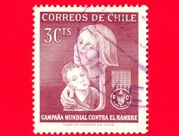 CILE - Usato - 1963 - Campagna Della FAO 'Libertà Dalla Fame' - Lotta Contro La Fame - 3 - Cile