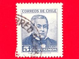 CILE - Usato - 1960 - Manuel Montt (1809-1880) - 5 - Cile