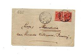 """LAB635- REGNO 1917 , Busta 10/8/1917 """" P.M. 47 """". - 1900-44 Vittorio Emanuele III"""