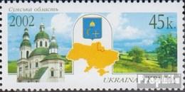 Ukraine 537 (kompl.Ausg.) Postfrisch 2002 Oblast Sumy - Ukraine