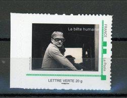 FRANCE - PERSONNALISÉS -  CHEMINOT LA BÊTE HUMAINE -  N° Yvert  (MTAM)  ** LETTRE VERTE 20g - France