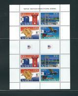 Netherlands Antilles, 2006, Washington 2006 2x4v M/s MNH - Antillas Holandesas