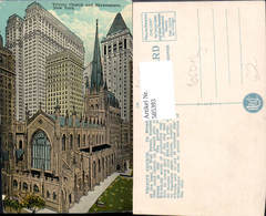 585393,New York Trinity Church And Skyscrapers New York City Kirche Hochhaus - NY - New York