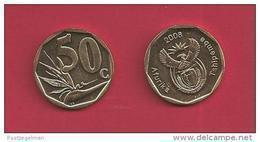 SOUTH AFRICA 2008, Coin XF, 50 Cent Strelizia,  C2018 - Afrique Du Sud