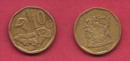 SOUTH AFRICA, 2000, 3 Off Nicely Used Coins 10 Cent C2114 - Zuid-Afrika