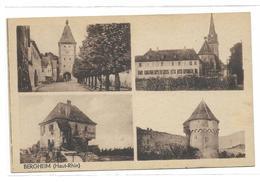 68 Bergheim Cpa Multivue - Autres Communes