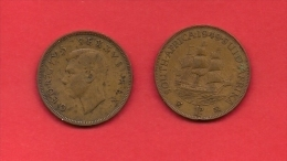 SOUTH AFRICA, 1949,  Circulated Coin, 1 Penny, George VI, Km 34.1, C1430 - Zuid-Afrika