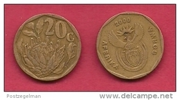 SOUTH AFRICA, 2000, 3 Off Nicely Used Coins 20 Cent C2096 - Zuid-Afrika