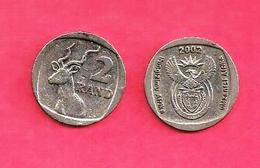 SOUTH AFRICA, 2002, Circulated Coin, 2 Rand Kudu,  , C 1345 - Zuid-Afrika