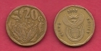 SOUTH AFRICA, 2002, 3 Off Nicely Used Coins 20 Cent C2098 - Zuid-Afrika