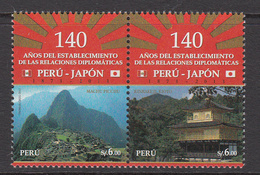 2013 Peru Links With Japan Flags  Complete Set Of 2  MNH - Perù