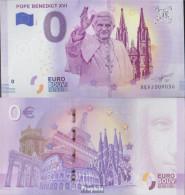Vatikanstadt Pick-Nr: 0 Euro Souvenirschein Papst Benedikt XVI. Bankfrisch 2018 0 Euro Papst Benedikt XVI. - Vaticano (Ciudad Del)