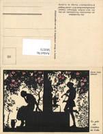 583573,Scherenschnitt Silhouette Gerda Luise Schmidt 182 Liedchen Im Volke - Scherenschnitt - Silhouette