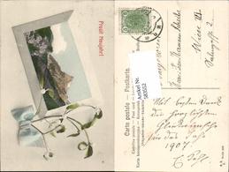 583552,Lithographie Neujahr Matterhorn Zermatt - Neujahr