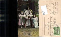 583550,Lithographie Engel Stall Krippe Weihnachten - Weihnachten