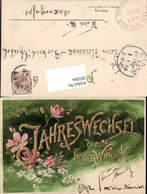 583304,Lithographie Neujahr Blumen Pub Erika - Neujahr