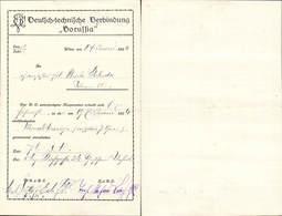 583303,Studentika Studentica Beleg Borussia Wien Deutsch Technische Verbindung - Schulen