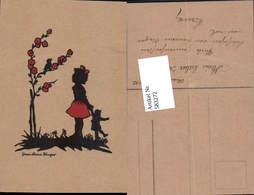 583272,Scherenschnitt Silhouette Mädchen Puppe - Scherenschnitt - Silhouette