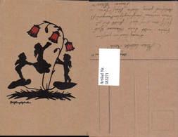 583271,Scherenschnitt Silhouette Blumen Kinder - Scherenschnitt - Silhouette
