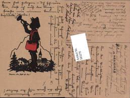 583270,Scherenschnitt Silhouette Trompete Post - Scherenschnitt - Silhouette