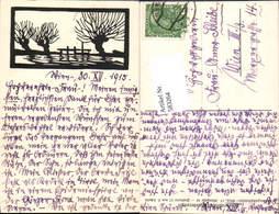 583264,Scherenschnitt Silhouette L. Scheidl Österreichischer Wandervogel - Scherenschnitt - Silhouette