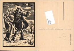 583263,Holzschnitt Johannes Wohlfart Bettler - Scherenschnitt - Silhouette
