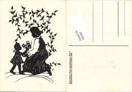583260,Scherenschnitt Silhouette Gertrud Stadler Mutter Kind - Scherenschnitt - Silhouette