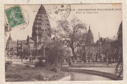 9AL691 MARSEILLE EXPOSITION COLONIALE 1922 PALAIS INDO CHINE 2 SCANS - Colonial Exhibitions 1906 - 1922