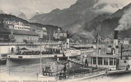 Interlaken - Dampfschifflände Und Bahnhof - BE Berne