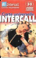 CARTE-PREPAYEE-50F-31/12/ 2002-INTERCALL-FEMMEet BEBE Buvant BIBERON-V°Code Sur Fond Gris--TBE- - Autres Prépayées