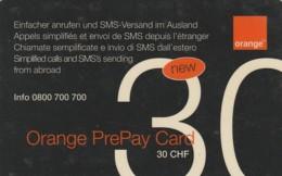 PREPAID PHONE CARD SVIZZERA ORANGE (E43.18.7 - Svizzera