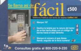 PREPAID PHONE CARD COSTARICA (E43.33.5 - Costa Rica
