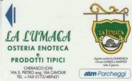 TESSERA ATM PARCHEGGI  (E43.36.2 - Biglietti D'ingresso