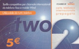 PREPAID PHONE CARD-WIND ITALIA (E43.38.4 - Schede GSM, Prepagate & Ricariche