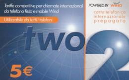 PREPAID PHONE CARD-WIND ITALIA (E43.38.5 - Schede GSM, Prepagate & Ricariche
