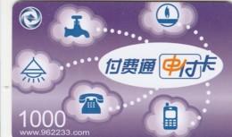 PREPAID PHONE CARD CINA (E43.48.3 - Cina