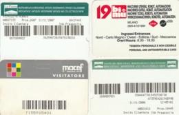 4 INGRESSI MOSTRE FIERE  (E43.61.8 - Biglietti D'ingresso