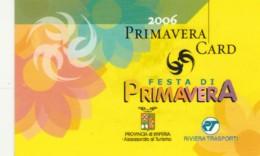 PRIMAVERA CARD -2006  (E43.63.2 - Biglietti D'ingresso