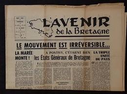 JOURNAL L'AVENIR De La BRETAGNE - Mensuel - Parution Septembre 1961 - 1950 - Today