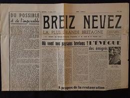BREIZ NEVEZ - Mensuel - Parution JUIN 1946 - Hommage Breton à St Yves - Journaux - Quotidiens