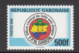 1996 Gabon Gabonaise Illegal Drugs Complete Set Of 1 MNH - Gabon (1960-...)